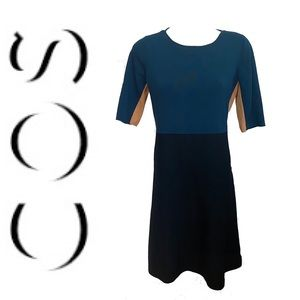 COS colour block shortsleeved stretch dress